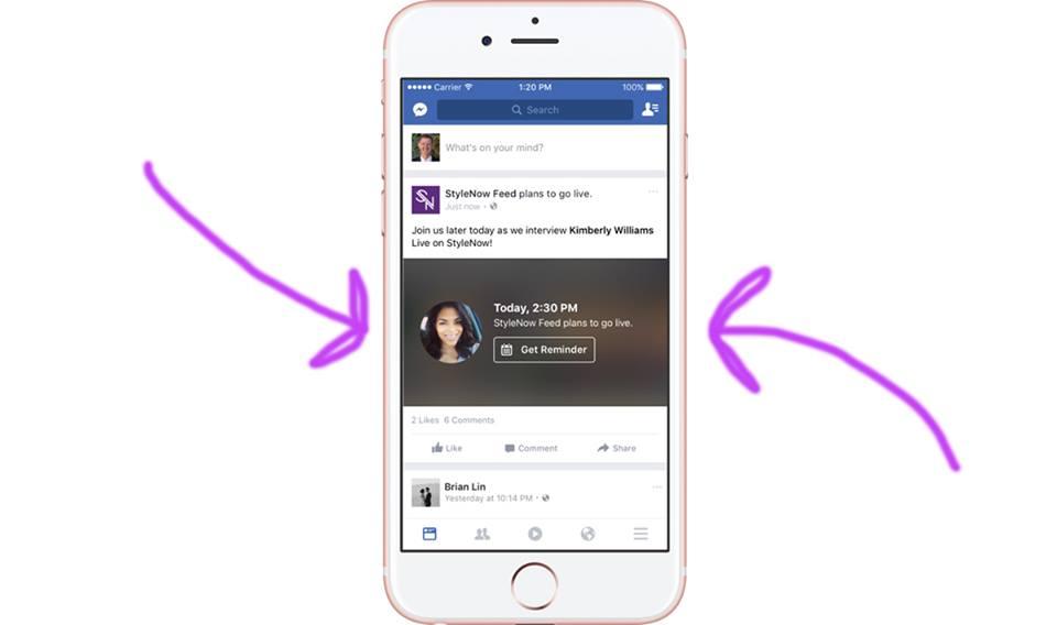 Facebook, le dirette streaming sulle Pagine si possono anche programmare
